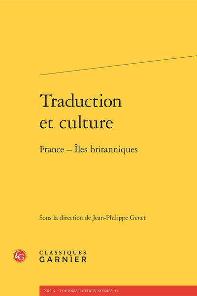 Traduction et culture. France - Îles britanniques