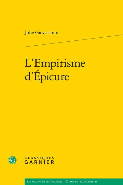 L'Empirisme d'Épicure