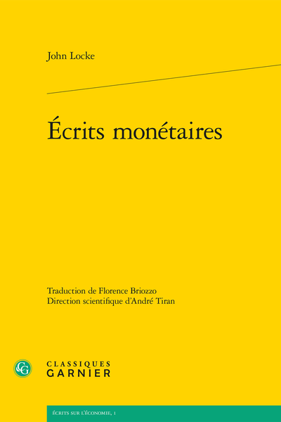 Écrits monétaires - Table des matières