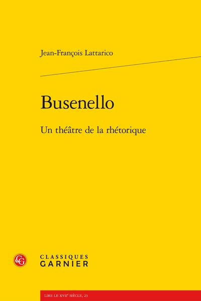 Busenello. Un théâtre de la rhétorique