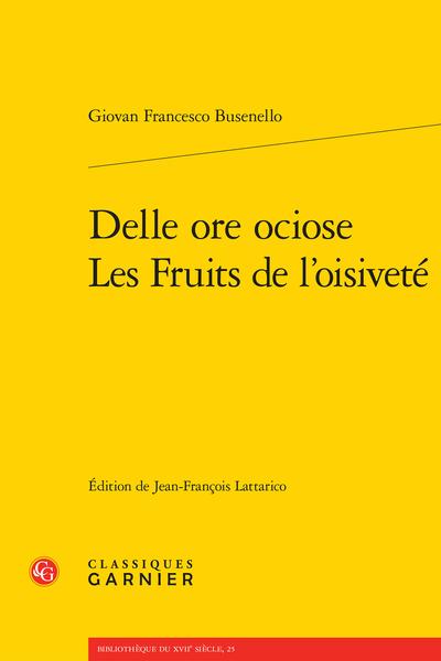 Delle ore ociose Les Fruits de l'oisiveté