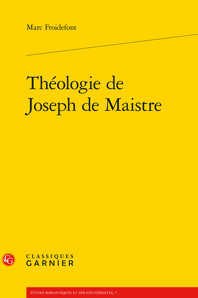 Théologie de Joseph de Maistre - Introduction