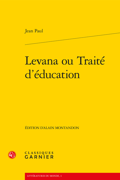 Levana ou Traité d'éducation - Introduction