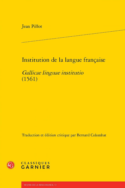 Institution de la langue française. Gallicae linguae institutio (1561)