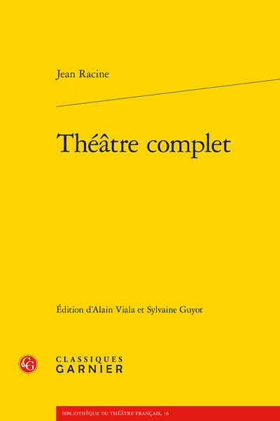 Théâtre complet - [Mithridate]