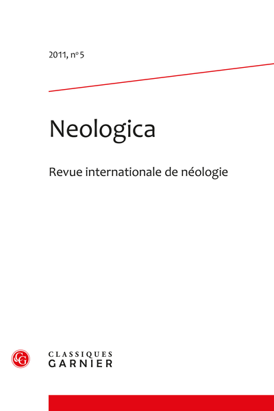 Neologica. 2011, n° 5. Revue internationale de néologie