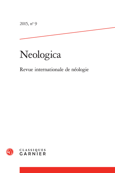 Neologica. 2015, n° 9. varia - On Italian lexical blends: from language play to innovation