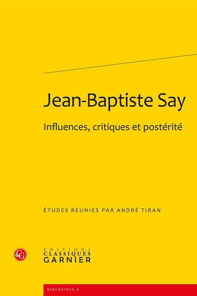 Jean-Baptiste Say. Influences, critiques et postérité - Jean-Baptiste Say's influence in Norway