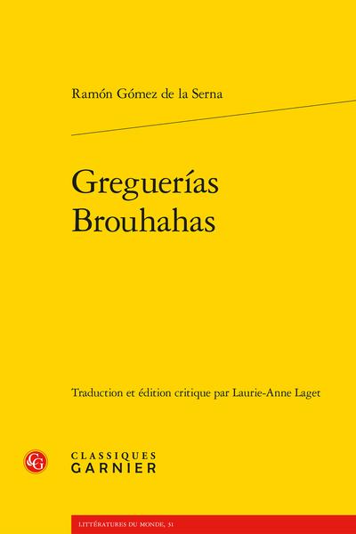 Greguerías / Brouhahas - Dédicace