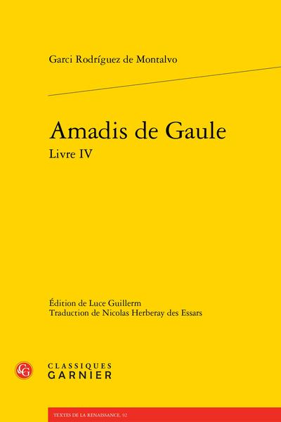 Amadis de Gaule Livre IV