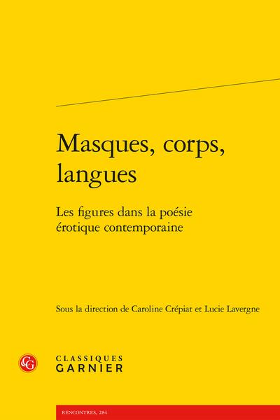 Masques, corps, langues. Les figures dans la poésie érotique contemporaine - Txus García