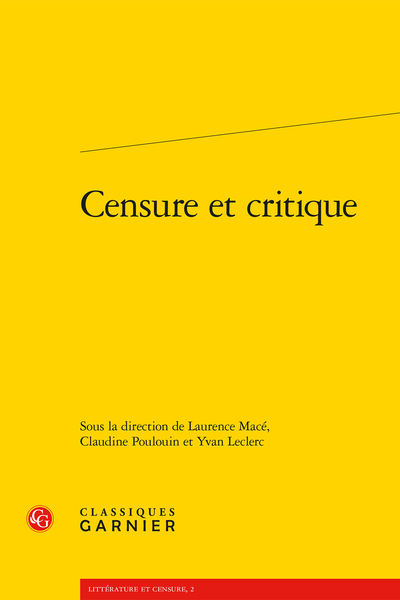 Censure et critique