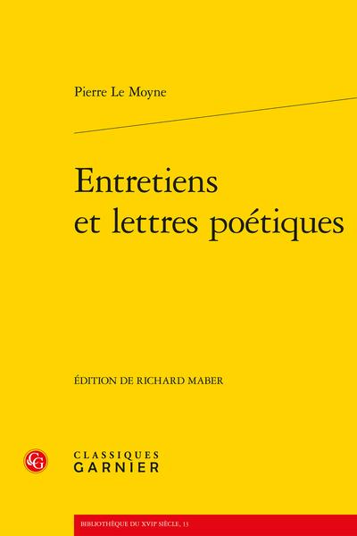 Entretiens et lettres poétiques