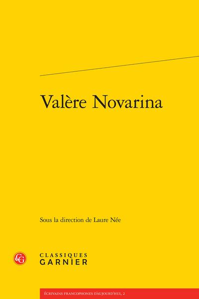 Valère Novarina - Table des matières