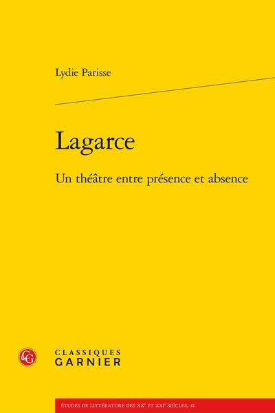 Lagarce. Un théâtre entre présence et absence - Sigles et abréviations