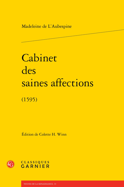 Cabinet des saines affections. (1595)