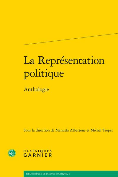 La Représentation politique. Anthologie