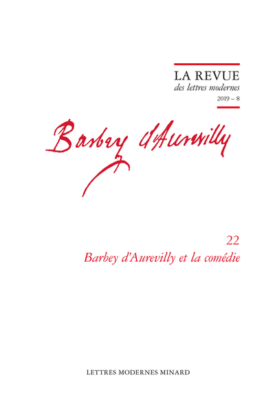 Barbey d'Aurevilly et la comédie. 2019 – 8 - Recensions