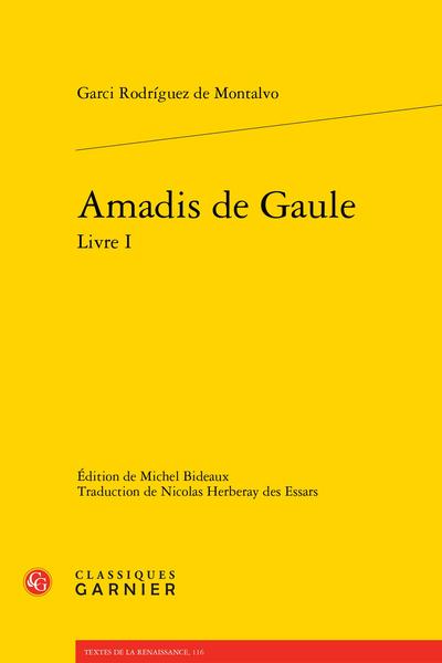 Amadis de Gaule Livre I - Index des toponymes