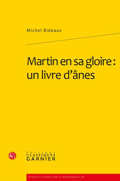 Martin en sa gloire : un livre d'ânes