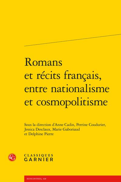 Romans et récits français, entre nationalisme et cosmopolitisme - Index