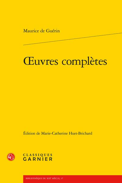 Œuvres complètes - 1830