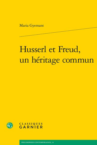 Husserl et Freud, un héritage commun Book Cover