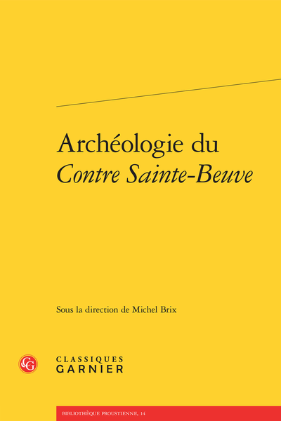 Archéologie du Contre Sainte-Beuve - Index nominum