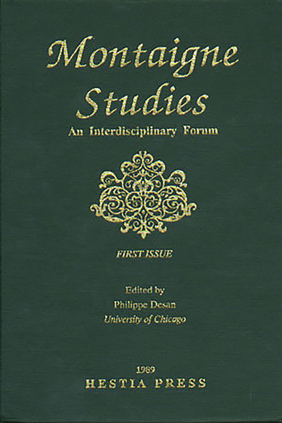 Montaigne Studies. 1989 An Interdisciplinary Forum, n° 1. varia