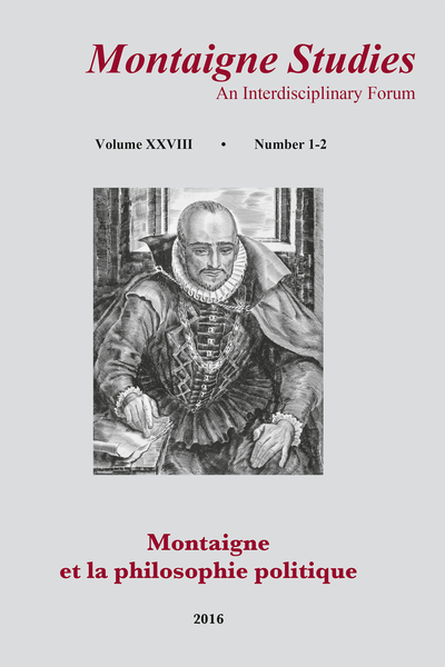 "Montaigne Studies. 2016 An Interdisciplinary Forum, n° 28. Montaigne et la philosophie politique - ""A knowledge broken"": Essay Writing and Human Science in Montaigne and Bacon"
