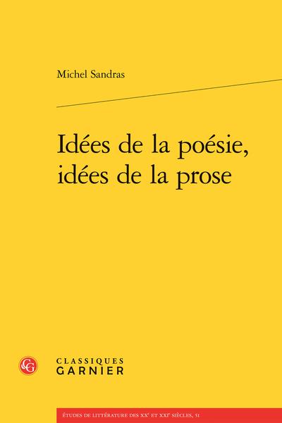 Idées de la poésie, idées de la prose - Index des noms