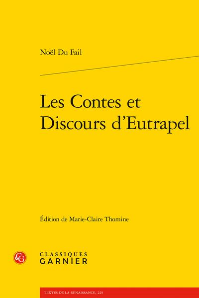 Les Contes et Discours d'Eutrapel