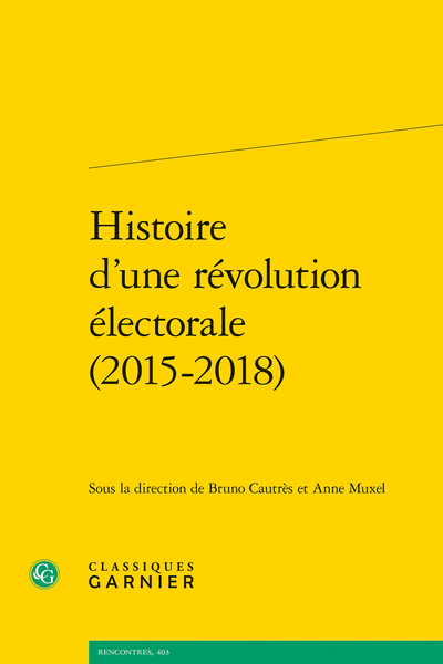 Histoire d'une révolution électorale (2015-2018) - Index des formations politiques