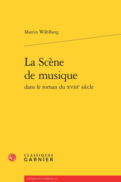 La Scène de musique dans le roman du XVIIIe siècle - Abréviations