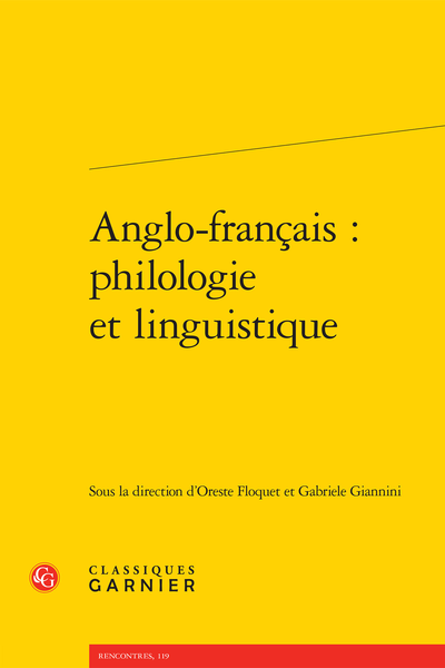 Anglo-français : philologie et linguistique - Index mss