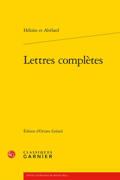 Lettres complètes - Préface