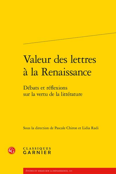 Valeur des lettres à la Renaissance. Débats et réflexions sur la vertu de la littérature - Lire Plutarque à la Renaissance, un passe-temps vertueux