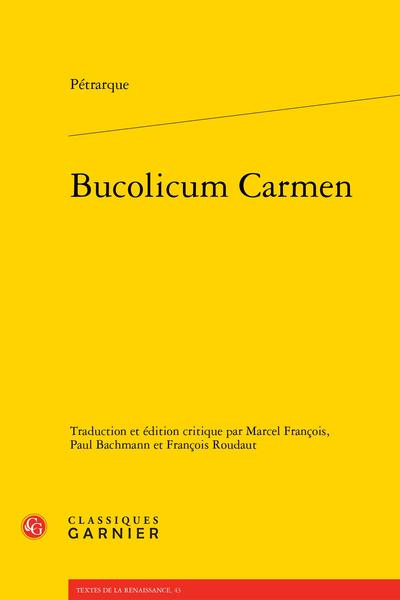 Bucolicum Carmen