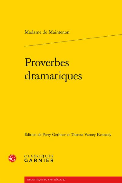 Proverbes dramatiques
