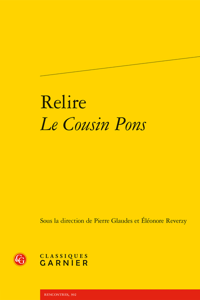 Relire Le Cousin Pons - Anticonstitutionnellement