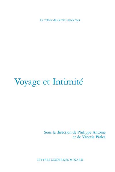 Voyage et Intimité