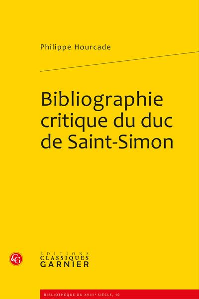 Bibliographie critique du duc de Saint-Simon