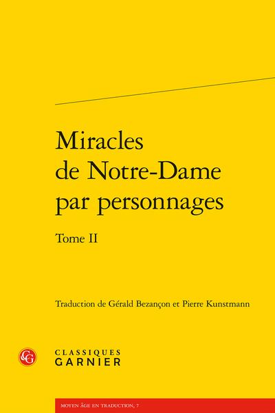 Miracles de Notre-Dame par personnages. Tome II