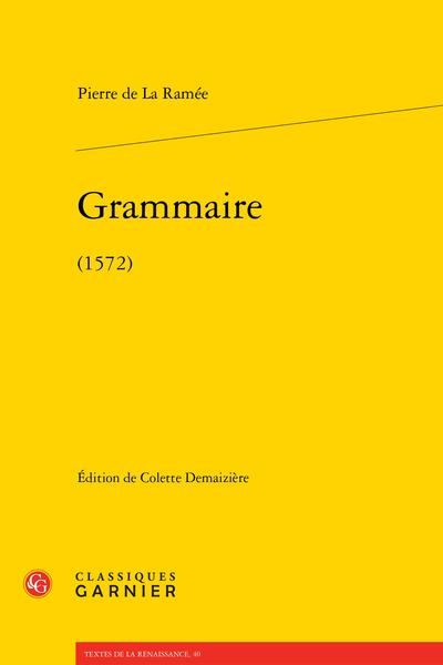 Grammaire. (1572)