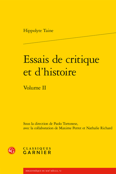 Essais de critique et d'histoire. Volume II - L'École des Beaux-Arts et les Beaux-Arts en France