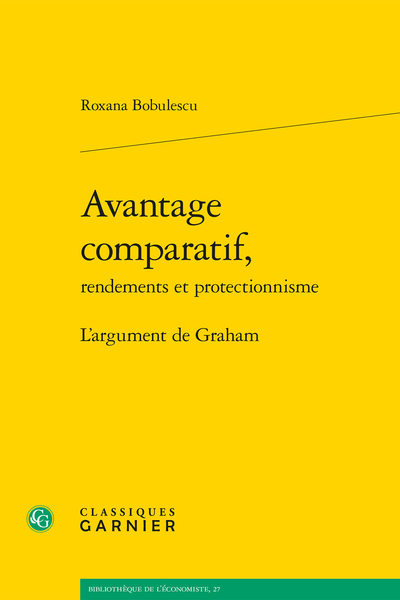 Avantage comparatif, rendements et protectionnisme. L'argument de Graham