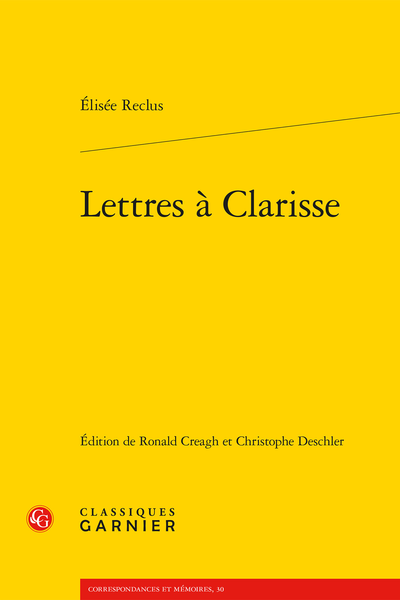 Lettres à Clarisse - Table des matières