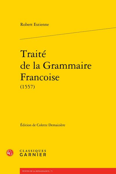 Traité de la Grammaire Francoise (1557)