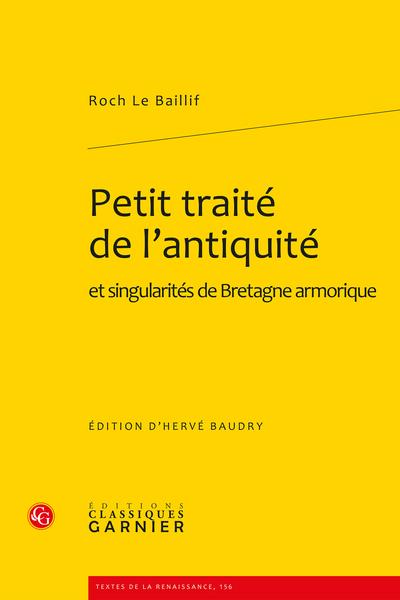 Petit traité de l'antiquité. et singularités de Bretagne armorique - Index des noms