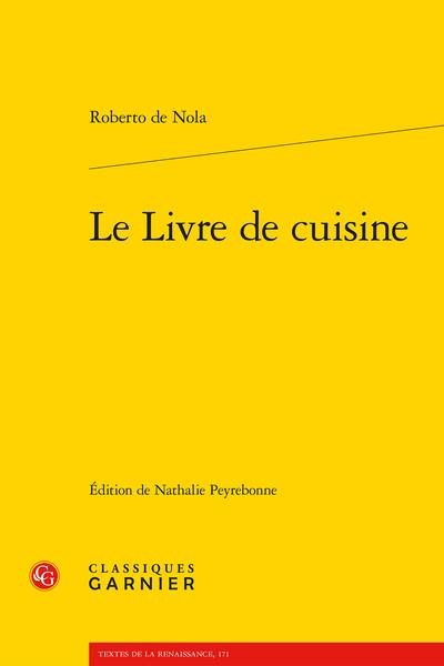 Le Livre de cuisine - Chapitre quatre
